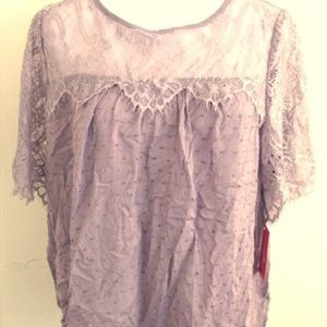 New Xhilaration Short Sleeve Lace Top Sz M